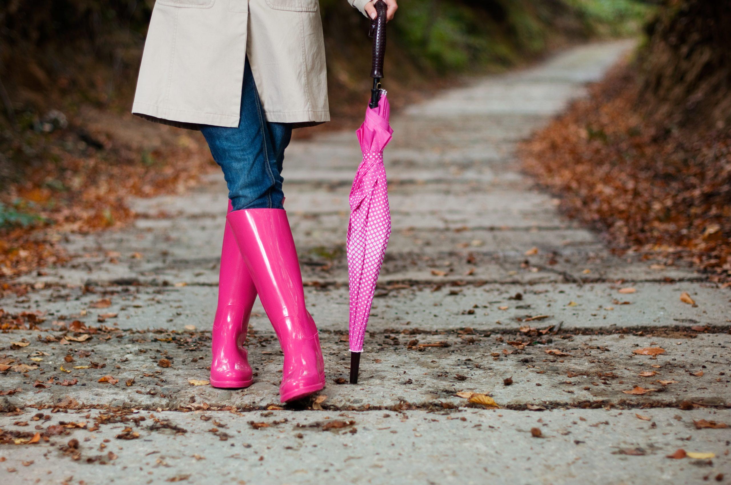 fashionable rain boots